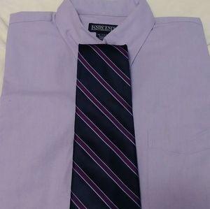 5 PIECE LOT 3 dress shirts with 2 ties. 16 32/35